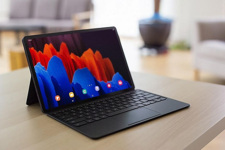 The Samsung Galaxy Tab S7+ is great for watching YouTube videos and high dynamic range Netflix shows, and playing video games.