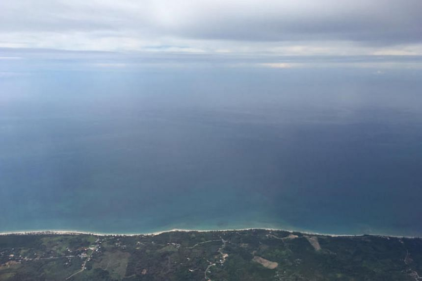 A view of the South China Sea off the coast of Sabah, on Jan 13, 2020.