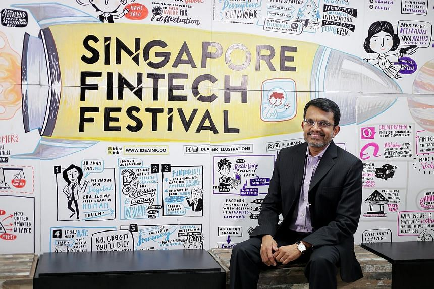 MAS managing director Ravi Menon, pictured here at the Singapore FinTech Festival in 2017, said at a webinar yesterday that while the trade conflict between the US and China is worrying, he is more concerned about the conflicts over technology. ST FI