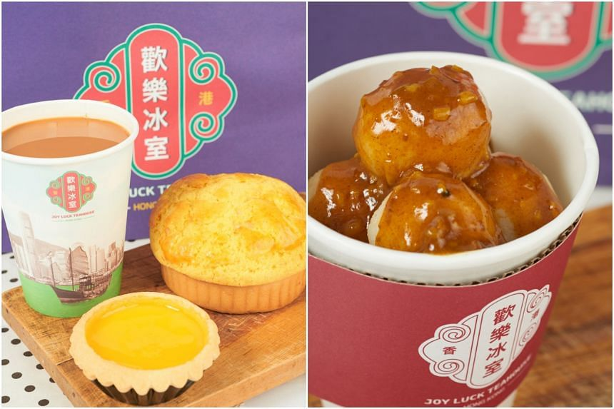 Joy Luck Teahouse will sell Hong Kong-style fish balls, pineapple buns (bolo bun) and egg tarts by three popular brands.
