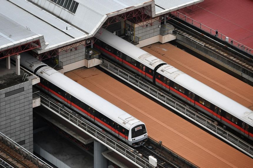 A train fault had occurred between Jurong East (above) and Bukit Batok MRT stations on the North-South Line.