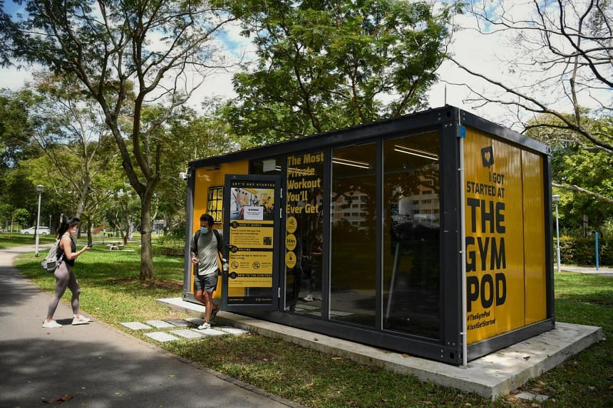 The Gym Pod is a 24-hour unmanned container gym with seven locations in Singapore.