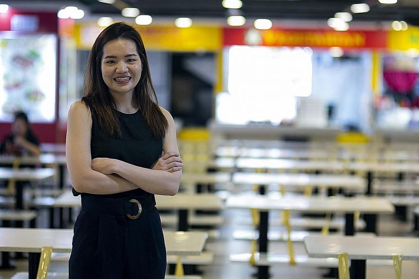 Ms Wong Minying, general manager of Asian Food Mall in Lucky Plaza, moved sales online with the help of DBS Bank's relief package.