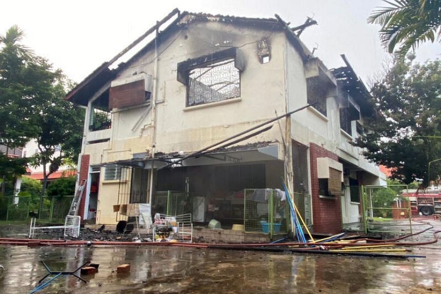 SCDF said the fire involved the contents on the second floor of the house.