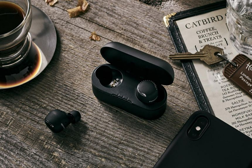 The Panasonic RZ-S500W headphones' bulky size allows the earbuds to anchor themselves well in the ears.