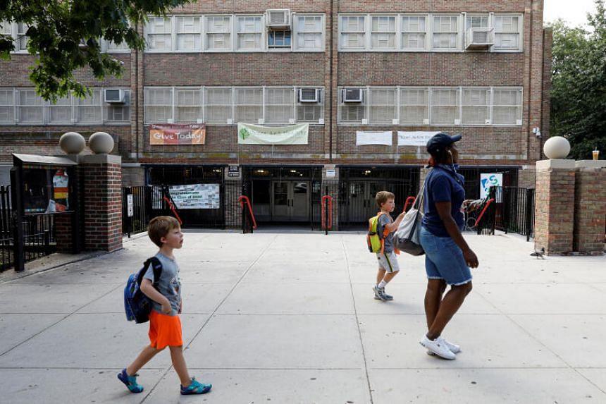 New York Public School 321 is seen closed in the Park Slope neighbourhood in Brooklyn, on Aug 7, 2020.