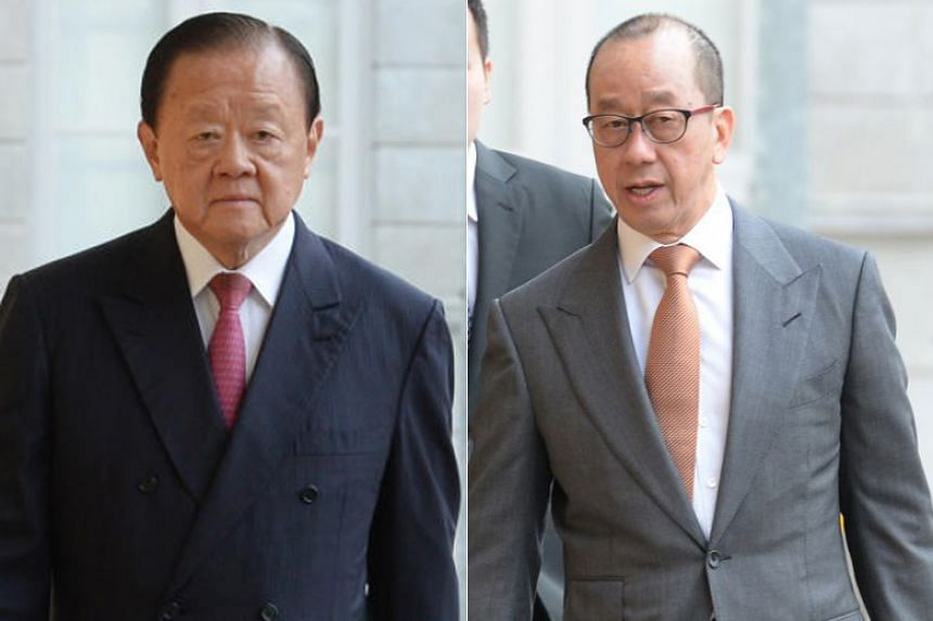 Mr Oei Hong Leong (left) is seeking once again to remove Raffles Education Corp founder Chew Hua Seng as chairman and chief executive officer.