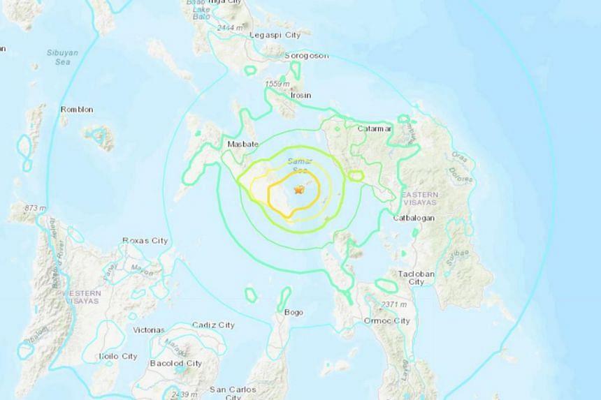 The quake had a depth of 30km.