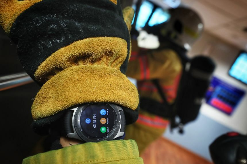 Officer Cadet Shin Won Tae said the smartwatch helps cadets to objectively gauge when to ramp up or tone down their training based on their own vitals.