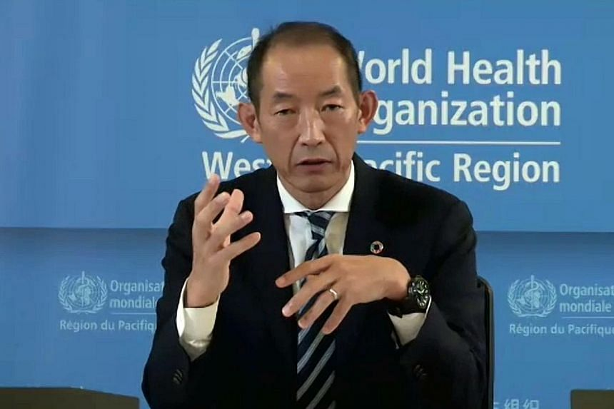 Dr Takeshi Kasai, the World Health Organisation's regional director for the Western Pacific, seen here at a virtual media briefing in May, said yesterday that the direction that the epidemic now takes depends on the actions of governments and people