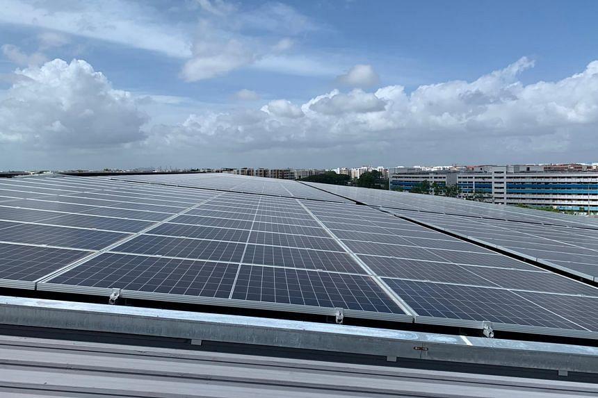 CapitaLand, which won the Green Mark Platinum Champion Award, installed 21,000 solar panels atop logistics building LogisTech.