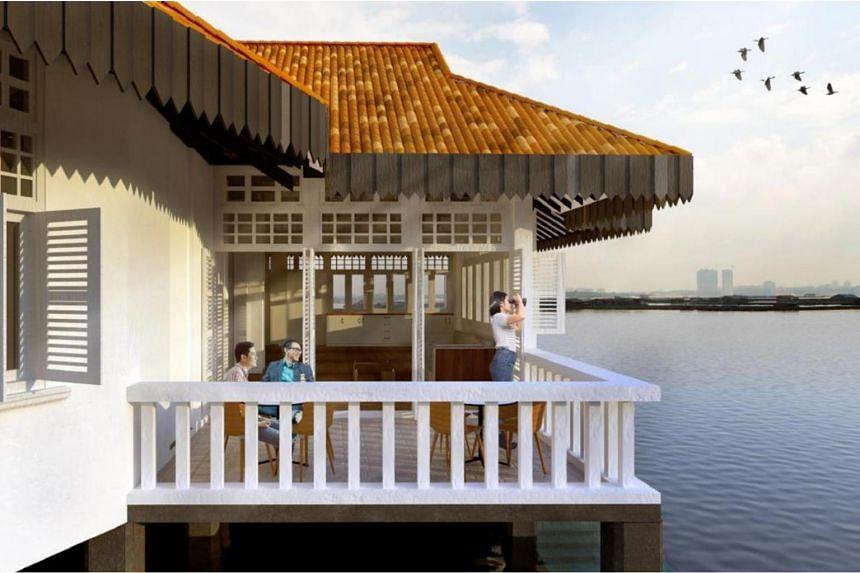 Artist's impression of Cashin House seaview terrace.