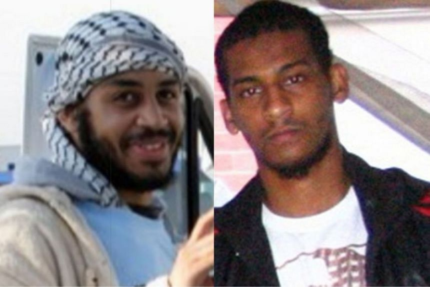 The two men identified as Alexanda Kotey (left) and El Shafee Elsheikh when they were captured in 2018.