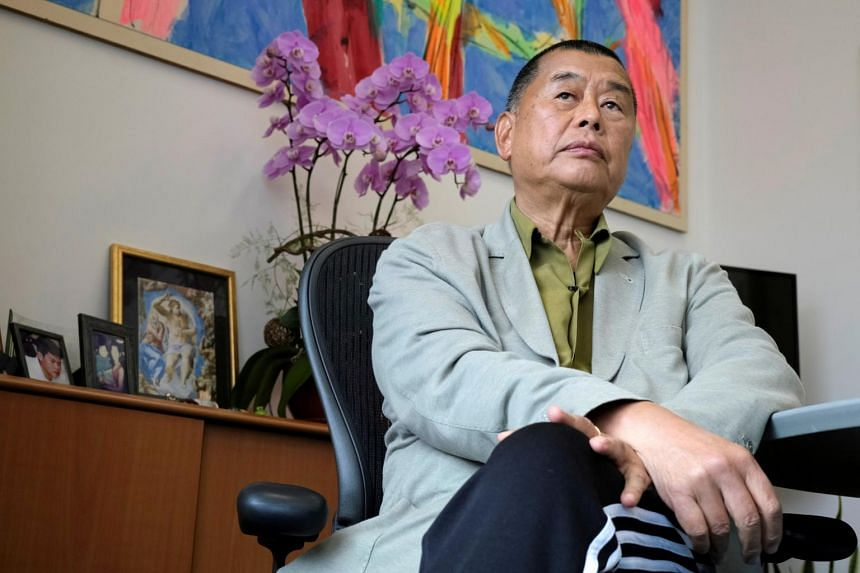 Jimmy Lai was among 10 people detained on Aug 10, 2020, under a sweeping security law imposed by Beijing.