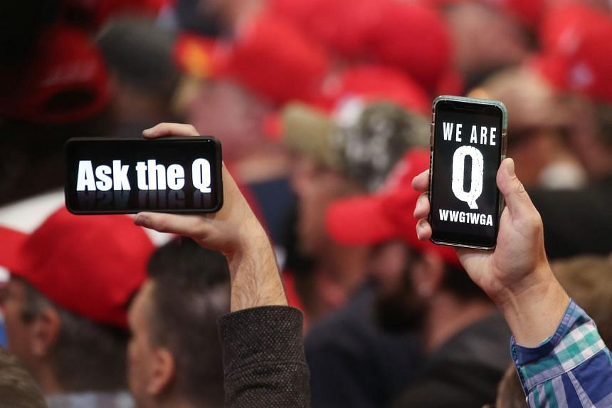 Believers of Q, the shadowy central figure of QAnon, have shown up at political rallies.