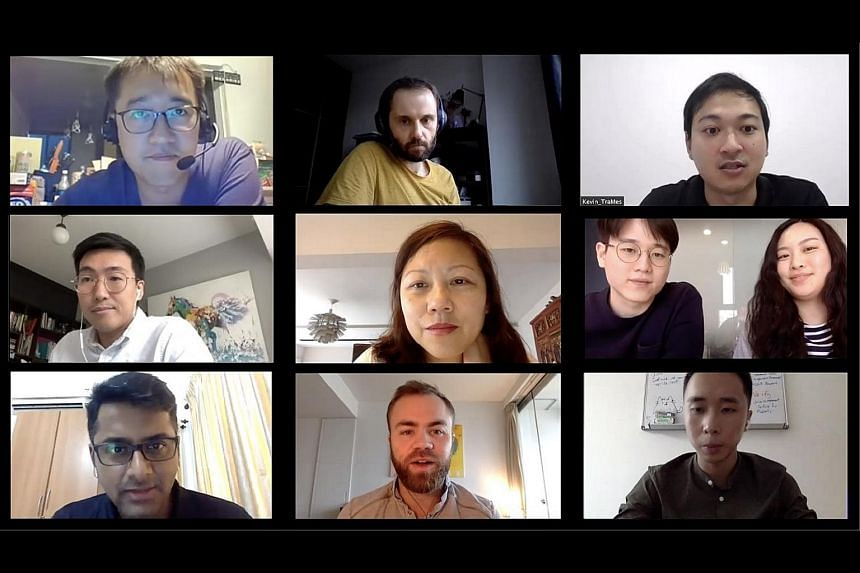 Industry mentors and company representatives taking part in a virtual session organised by Tribe Accelerator to engage start-ups.