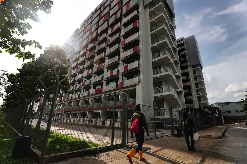 Sungei Tengah Lodge, Singapore's biggest dormitory for foreign workers, was declared Covid-19-free last month. The Ministry of Manpower said it expects an additional 20,000 residents from recently cleared dormitories to soon have the Green AccessCode