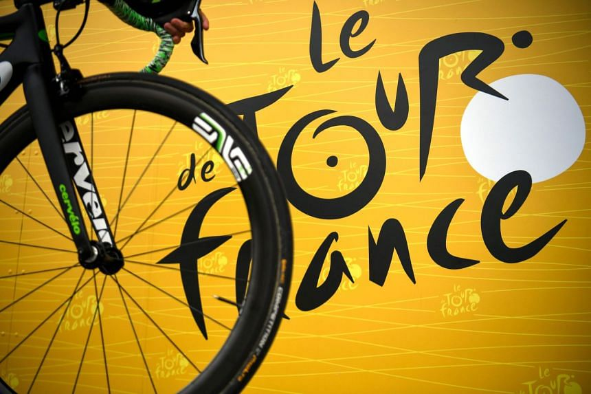 The official logo of the Tour de France is seen in a file photo.