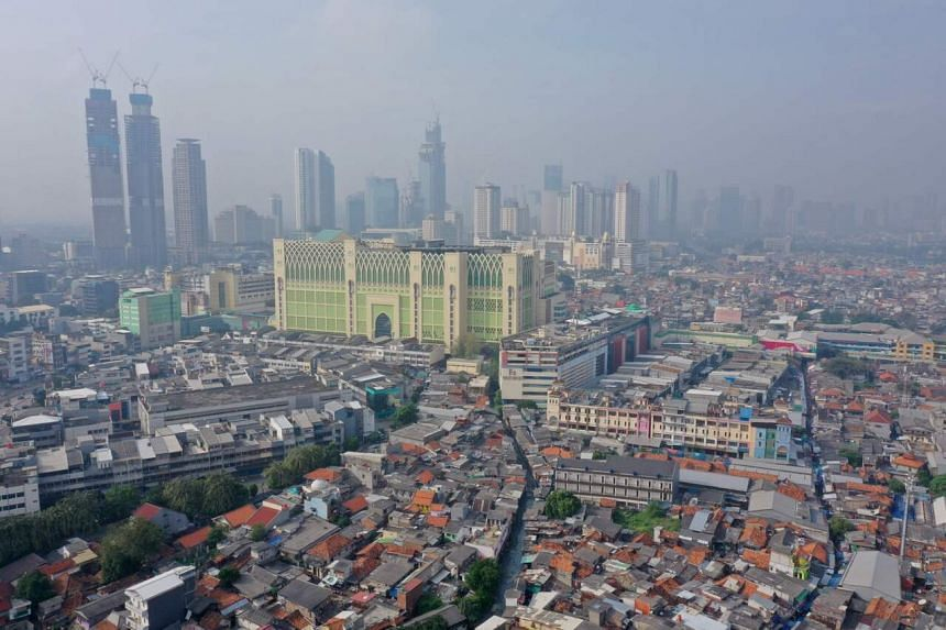 The Jakarta city skyline on June 9, 2020.