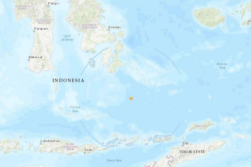 The quake was at a depth of 640km, with an estimated magnitude of 6.6.