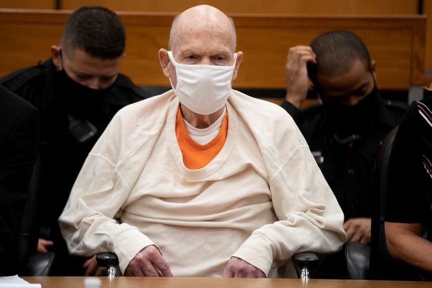 DeAngelo attends the third day of victim impact statements at a courtroom in Sacramento, California,  Aug 20, 2020.