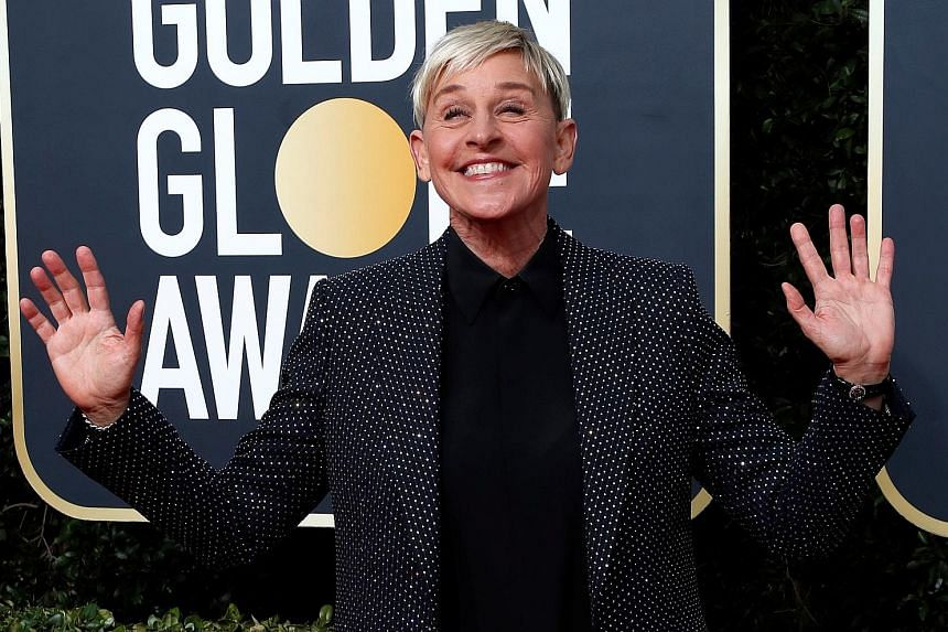 "Ellen DeGeneres in a photo taken in January. At a virtual town hall meeting earlier this week, she apologised to employees for on-set toxicity that occurred ""on her watch""."