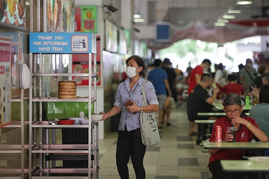 Diners at hawker centres who take their own trays to cleaning stations after their meals, and do not leave soiled tissues or used masks behind, could be helping to protect cleaners - who are often elderly - from infections.