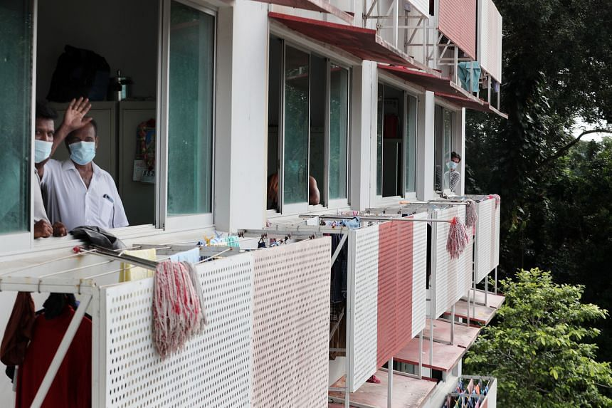 Sungei Tengah Lodge is Singapore's largest dorm, housing about 16,000 workers.