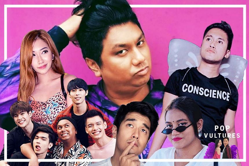 Influencers who have reacted to the Dee Kosh scandal include (from top left) Nicole Choo, Xinde Yap, Hamza Zaidi, Ben Tang, Go Shisong, Nathan Hartono, Preetipls and Hirzi.