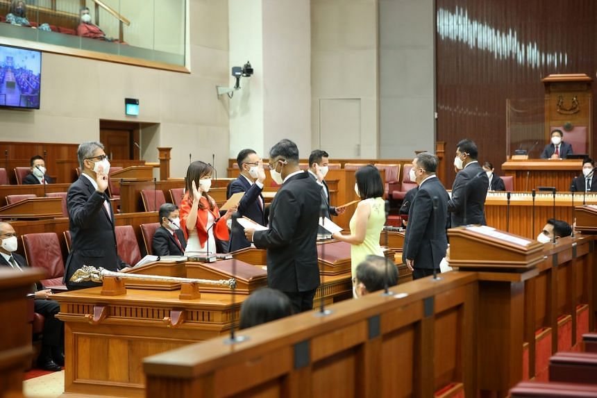 The opening of the 14th Parliament at Parliament House on Aug 24, 2020.