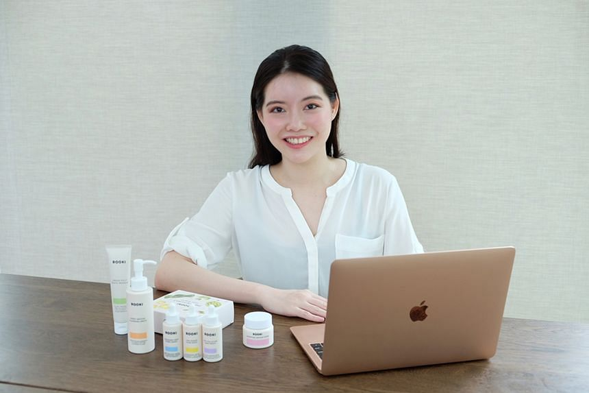 Ms Hayley Teo, founder of Rooki Beauty, which has seen a 200 per cent increase in new customers since April.