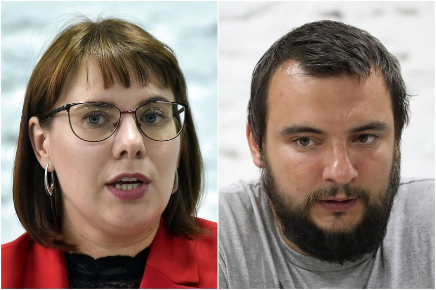 The detained people were Ms Olga Kovalkova and Mr Sergei Dylevsky.