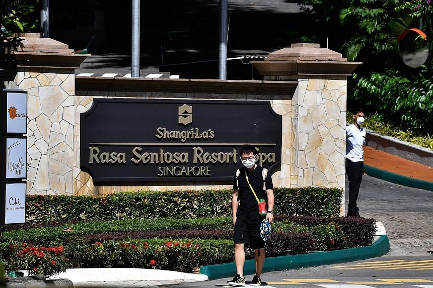 Shangri-La's Rasa Sentosa Resort and Spa has been used as a dedicated facility since March for those serving stay-home notices.