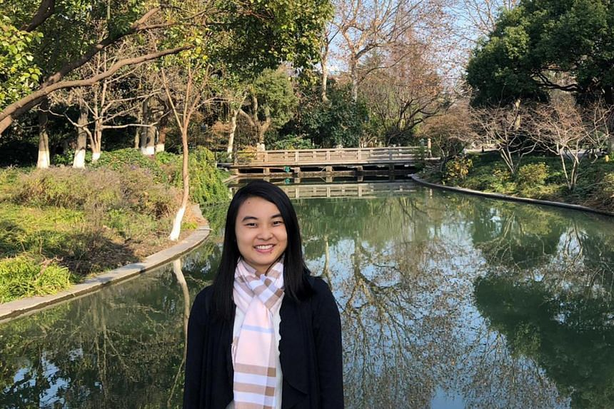 Former national paddler Isabelle Li on holiday in China in Jan 2020.