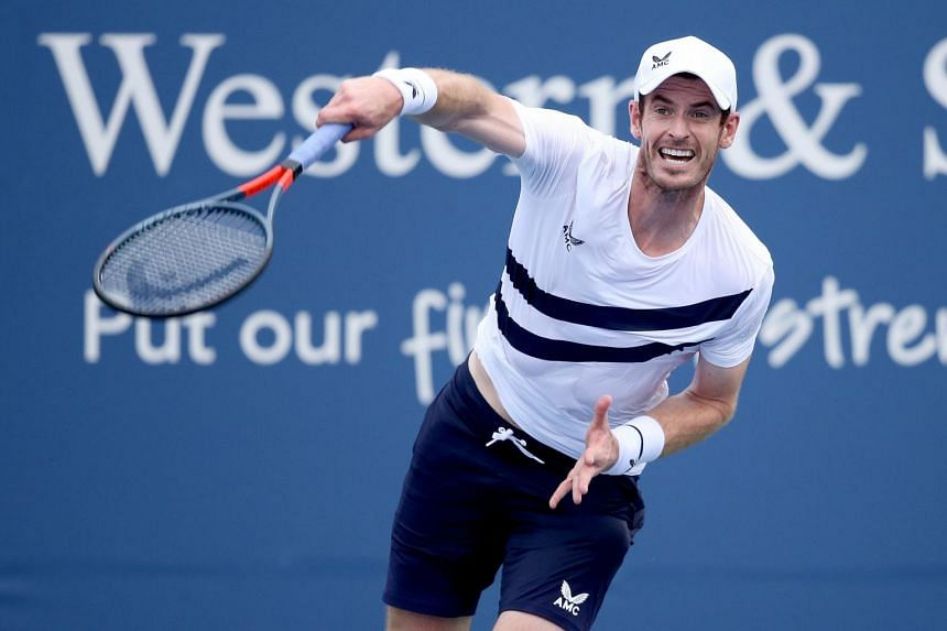 Andy Murray at the USTA Billie Jean King National Tennis Center in New York City on Aug 24, 2020.