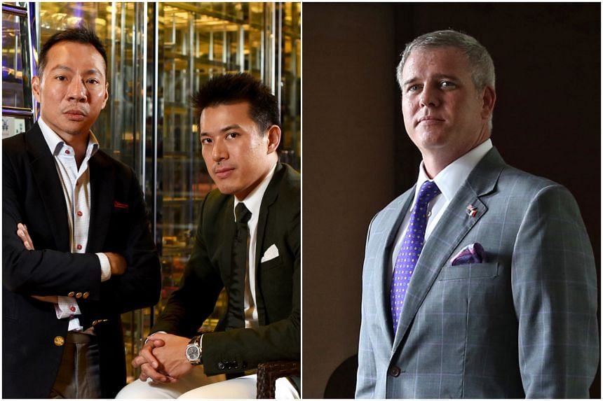 Kirk Wagar (right) had earlier resigned from his position in Axington, in which cousins Nelson Loh and Terence Loh are controlling shareholders.