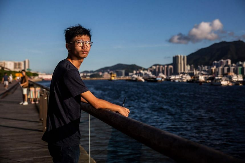 Mr Tony Chung was walking through a Hong Kong shopping mall when police officers swarmed him.