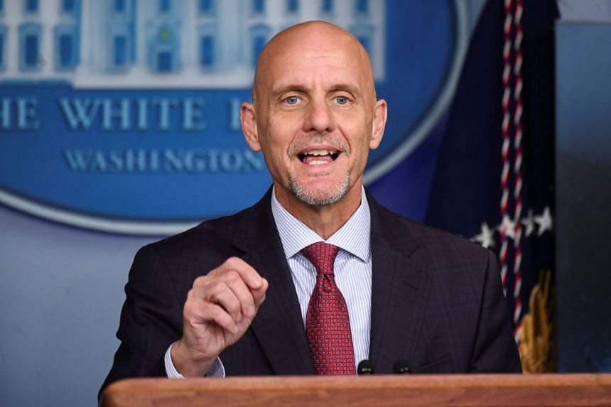 US Food and Drug Administration Commissioner Stephen Hahn at a Covid-19 news conference at the White House last Sunday. His U-turn is a rare reversal for an agency that has prided itself on rock-solid science. PHOTO: REUTERS