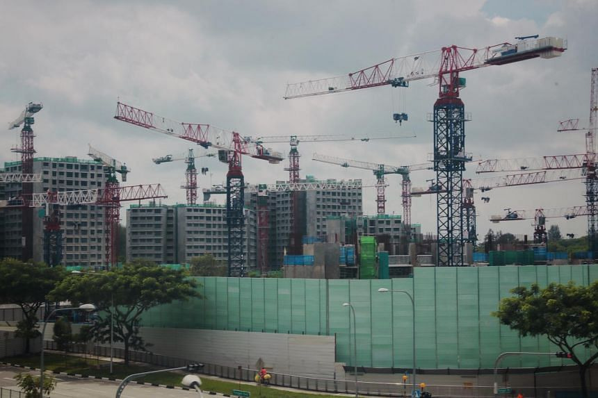 Currently, Waterway Sunrise II in Punggol is about 45 per cent completed.