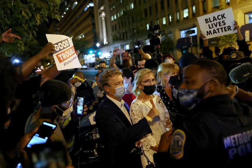 Protesters confront Rand Paul about Breonna Taylor after RNC