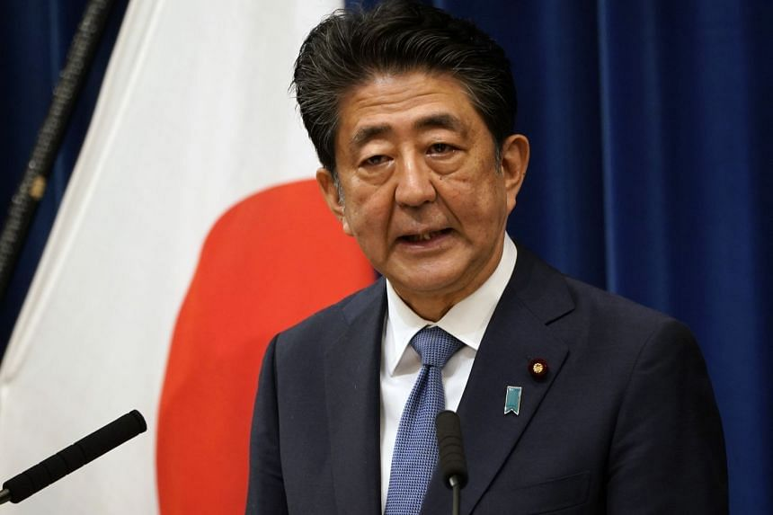 Japan PM Shinzo Abe speaks during a press conference in Tokyo on Aug 28, 2020.