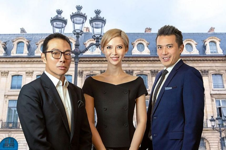 Ms Evangeline Shen is Axington's non-independent non-executive chairman, while cousins Terence (left) and Nelson Loh are controlling shareholders.