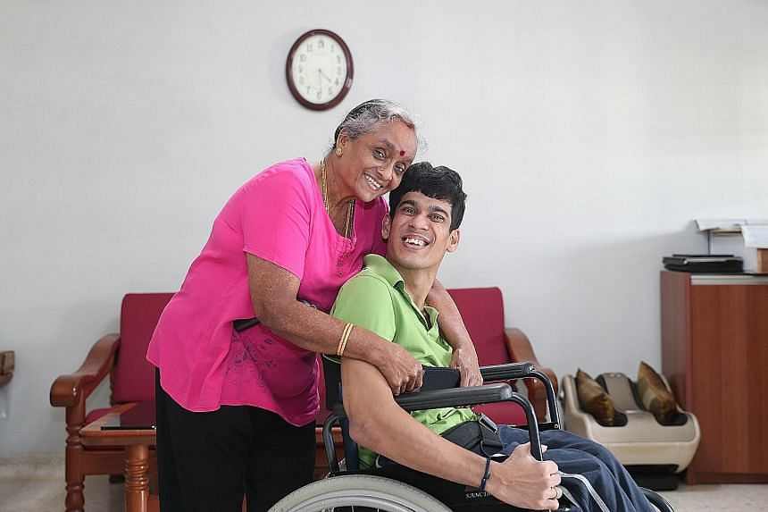 Madam Seetharam Punithavathi has been worrying about what will happen to her son, Mr Vignesswaran Anbalagan, when she and her husband are no longer around. The CareShield Life payout will come in handy for him in the future, she says.