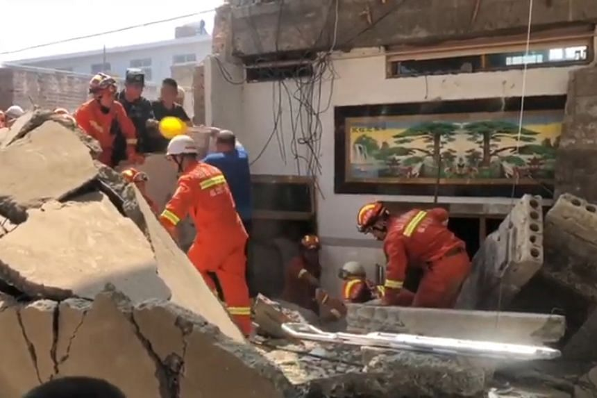 Dead, Many Injured As Restaurant Collapses In China
