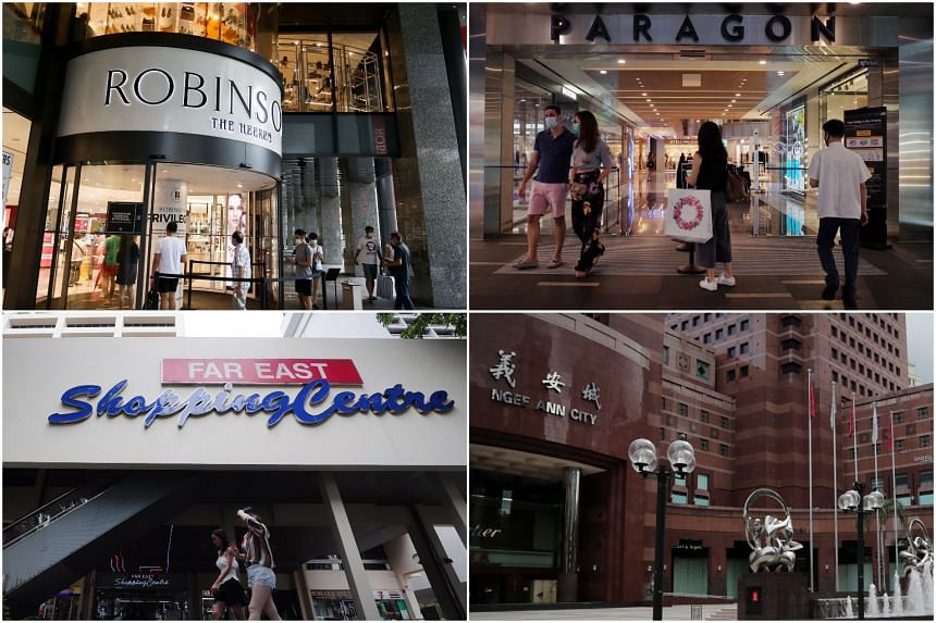 Ngee Ann City, Far East Shopping Centre, Far East Plaza, Paragon and The Heeren were among the malls visited.