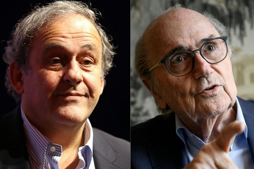 "Michel Platini (left) now has the status of ""accused"" alongside Sepp Blatter."