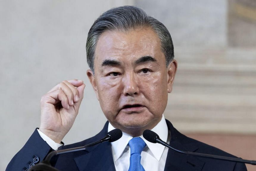 Chinese Foreign Minister Wang Yi at a joint press conference in Rome, Italy, on Aug 25, 2020.