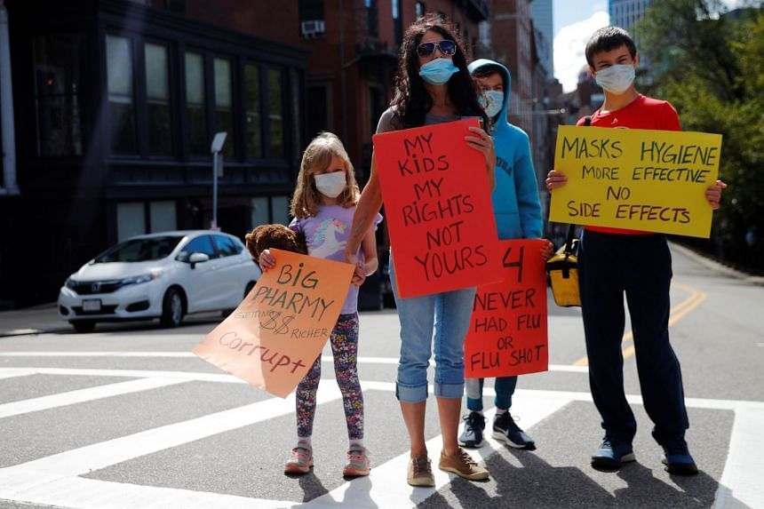 Us Protesters Rally Against Mandatory Flu Shots For Students United States News Top Stories The Straits Times