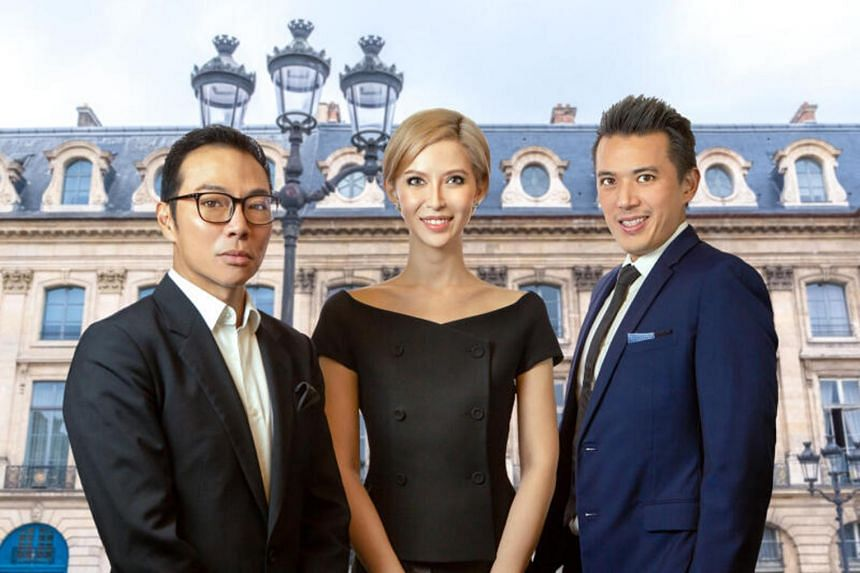 Ms Evangeline Shen is Axington's non-independent non-executive chairman, while businessmen Terence Loh (left) and Nelson Loh are controlling shareholders.