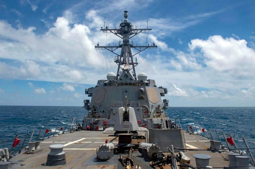 On Aug 18, 2020, the US guided-missile destroyer USS Mustin sailed through the strait.